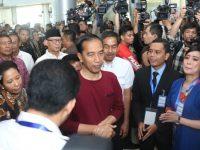 WH Dampingi Jokowi Resmikan Kereta Api Bandara Soekarno Hatta