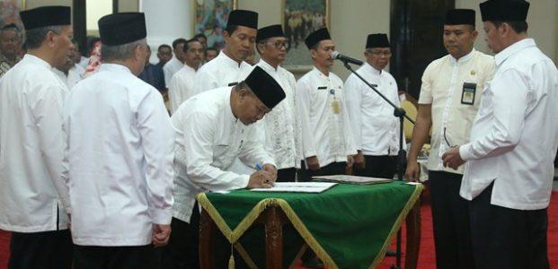 Ini 5 Pejabat Esselon II Hasil Lelang yang Dilantik Gubernur WH