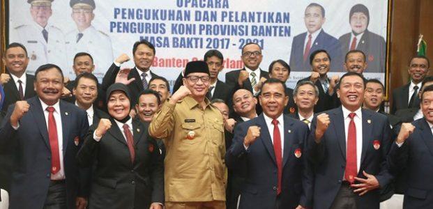 Gubernur WH Ajak KONI Banten Tingkatkan Prestasi Olahraga Banten