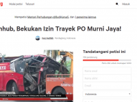 Heboh! Petisi Desakan Menhub Bekukan Izin Trayek Bus Murni Jaya