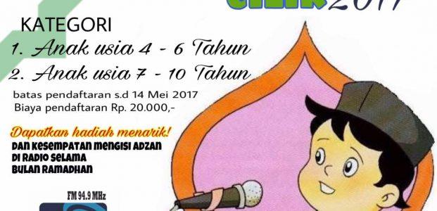 Wow! Ikut Lomba Muadzin Cilik, Bisa Ngisi Suara Adzan di RRI Banten