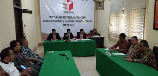 Gugat KPU Kota Serang, Paslon Independen Agus-Samsul Kandas di Panwaslu