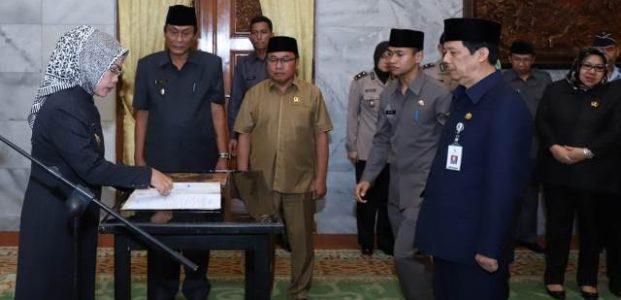 Tb. Entus Mahmud Dilantik Jadi Sekda Pemda Kabupaten Serang