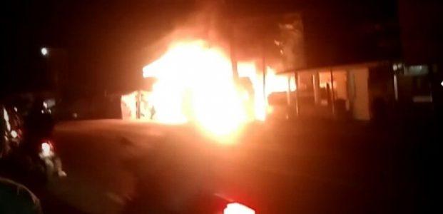 Kios Kelontong Pasar Kalodran Kota Serang Terbakar