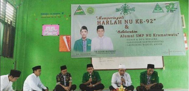 Dzikir dan Doa, Cara Alumni SMP NU Kramatwatu Rayakan Harlah NU Ke-92